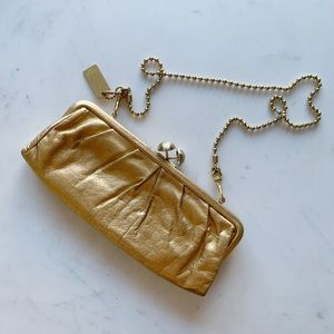 Vintage Coach Clutch w/ Removable Gold Chain